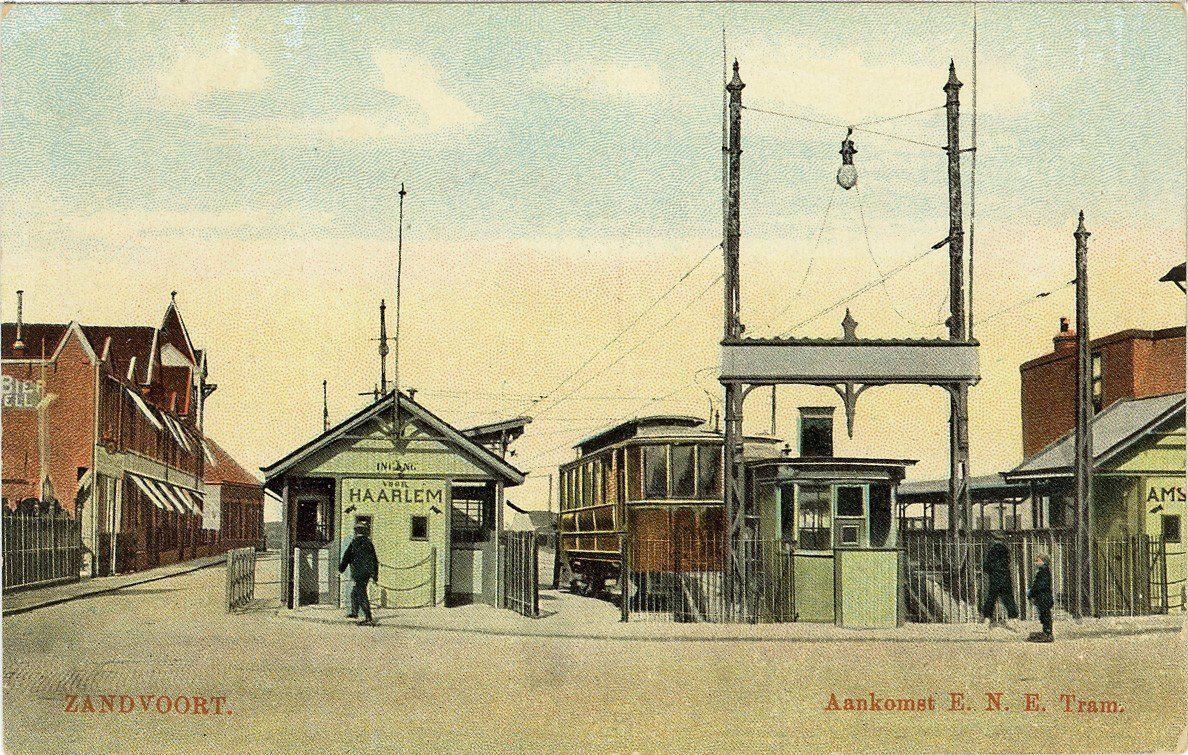 Eindpunt van de Blauwe Tram in Zandvoort.