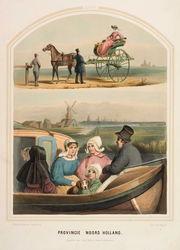 Aan boord van een trekschuit, door Bing en Ueberfeldt, 1857.
