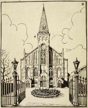 Lutherse Kerk (Witte Herenstraat) Voorgevel, 20e eeuw