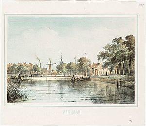 Het Noordhollands Kanaal met vlotbrug.