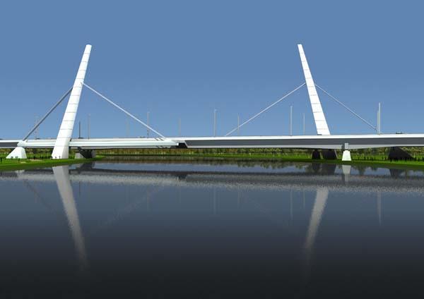 De Muiderbrug over het Amsterdam-Rijnkanaal.