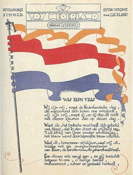 Bevrijdingsnummer 'Vrij Nederland'.