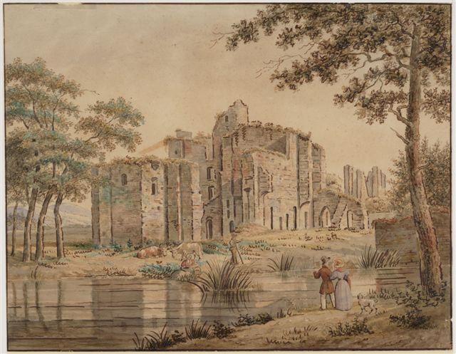 De ruine van kasteel Brederode in de 19de eeuw.