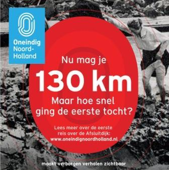 Met 130 km over de Afsluitdijk.