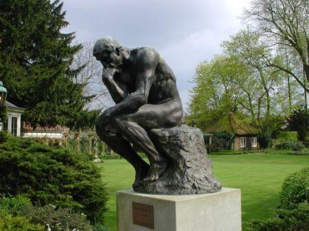 De Denker van Rodin, foto vervaardigd door Margareta Svensson.