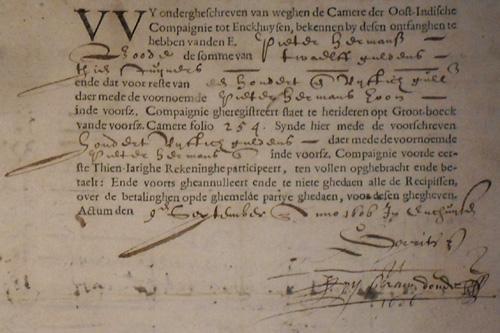 Het oudste VOC-aandeel.