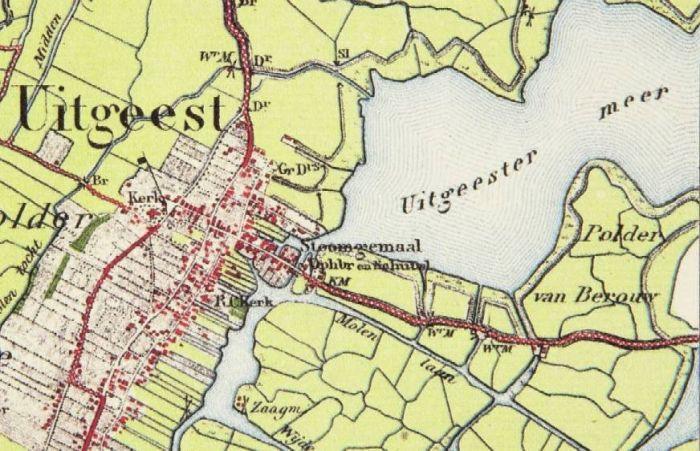 Kaart van Uitgeest (detail).