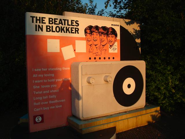 Beatlesmonument in Blokker.