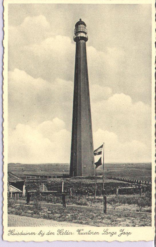 Vuurtoren Lange Jaap te Huisduinen omstreeks 1915.