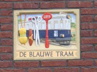 Gevelsteen De Blauwe Tram.