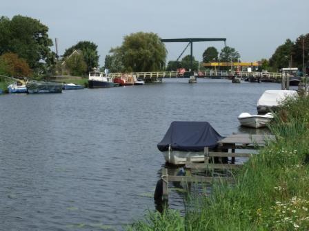 Ringvaart Haarlemmermeer bij Vijfhuizen.
