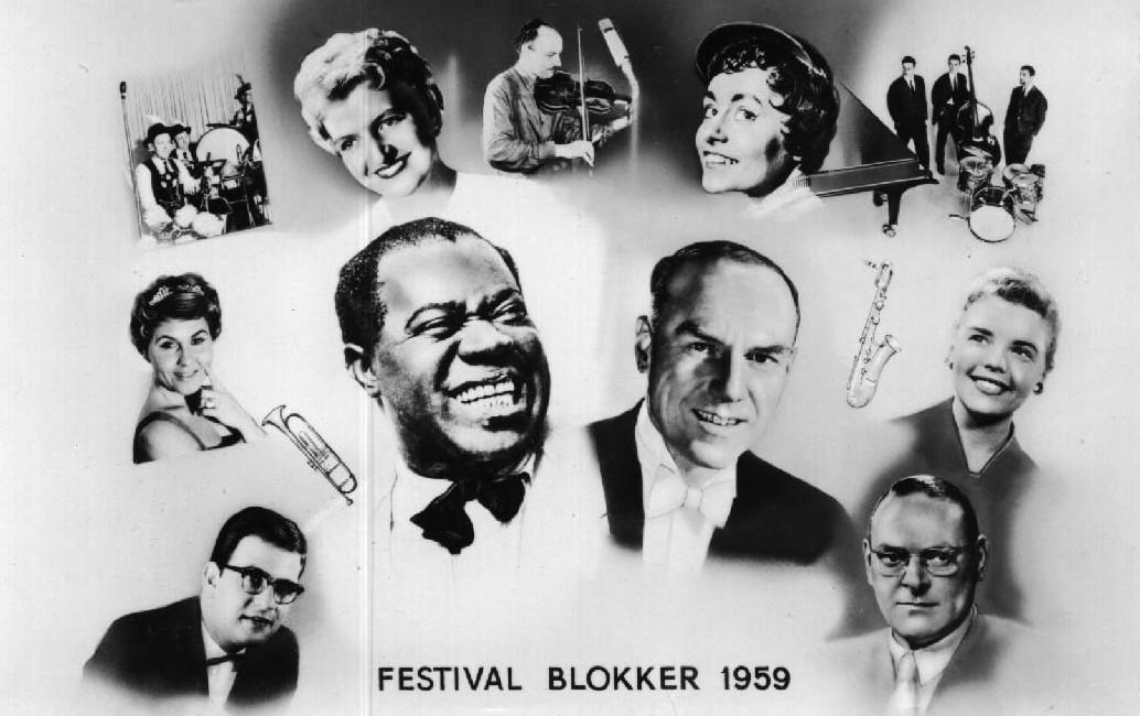 Artiesten Blokker festival 1959.
