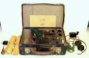 Radio in koffer.