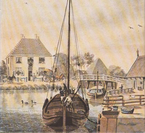 Het Niedorper Verlaat rond 1800.