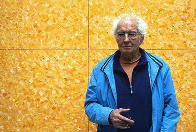 Jan wolkers voor het Grote Gele Doek