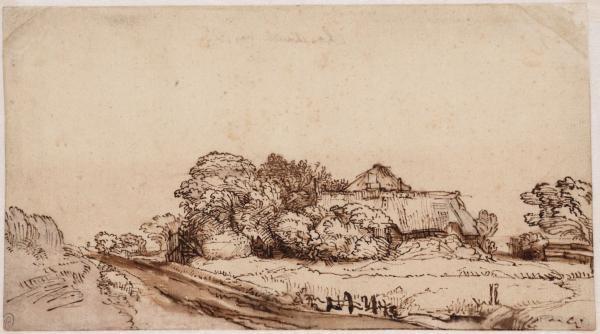 Boerderij aan de Diemerdijk door Rembrandt
