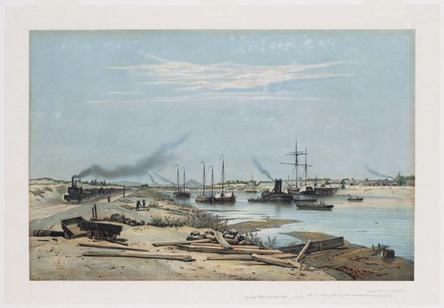 Aanleg van het Noordzeekanaal.