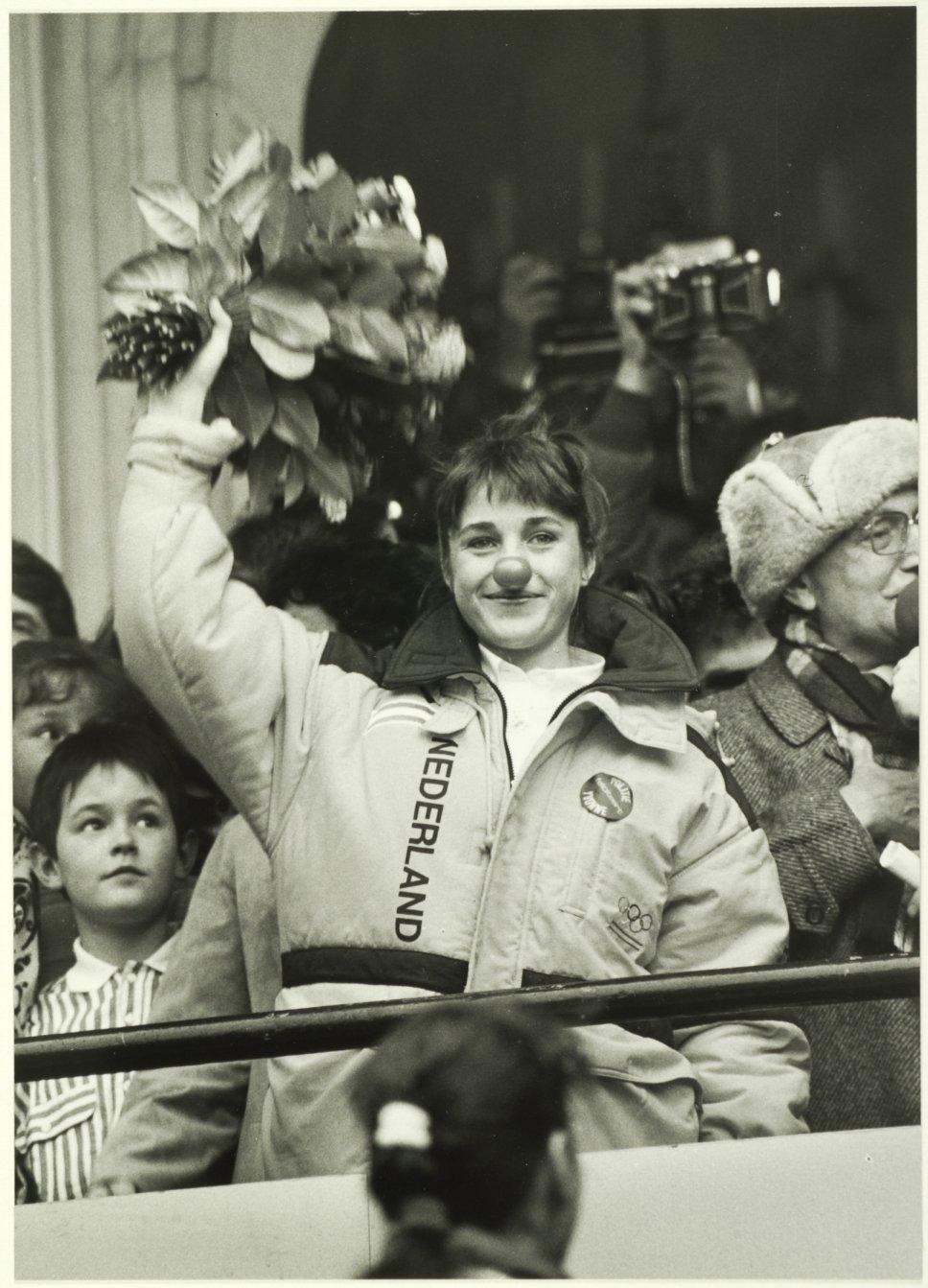 Yvonne van Gennip, huldiging Haarlem 1988.
