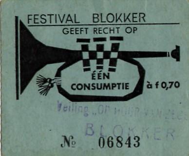 Consumptiebon van het legendarische optreden op 6 juni 1964.