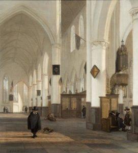In de Amsterdamse Oude Kerk…