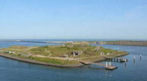 Forteiland IJmuiden: kustfort lag eerst op vasteland