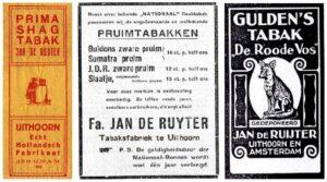 Tabaksfabriek Jan de Ruyter in Uithoorn