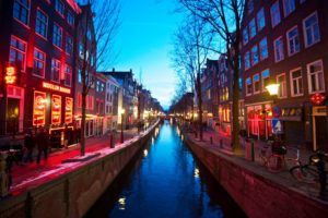 Het red light district in Amsterdam