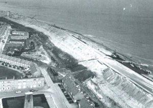 De keermuur op de Helderse zeedijk