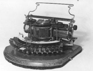 23 juni 1866: eerste patent aangevraagd op typemachine