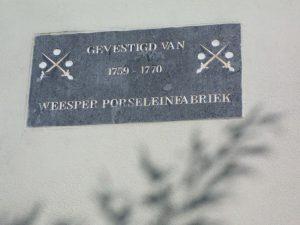 Graaf opent porseleinfabriek in Weesp