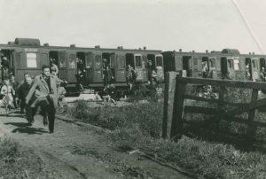Tankgracht graven bij Schipholbrug