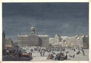 Oudejaarsavond op de Dam, 1854