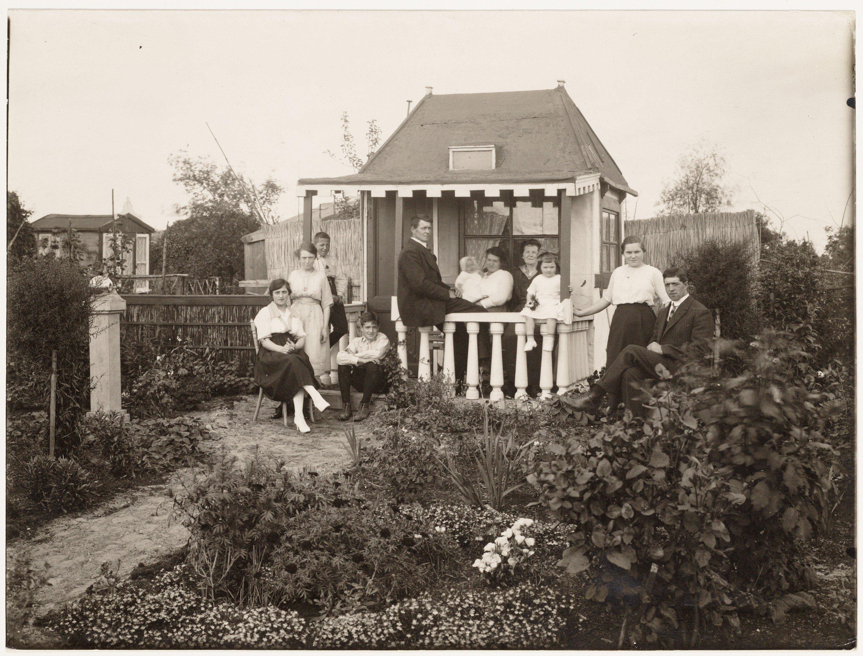 Volkstuintjes, Volkstuinen, tuinen, tuinieren, Volkstuinenpark Hofwijck, Amsterdam, Stadsarchief