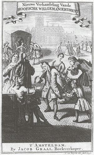 etiquetteboek, achttiende eeuw, voorpagina