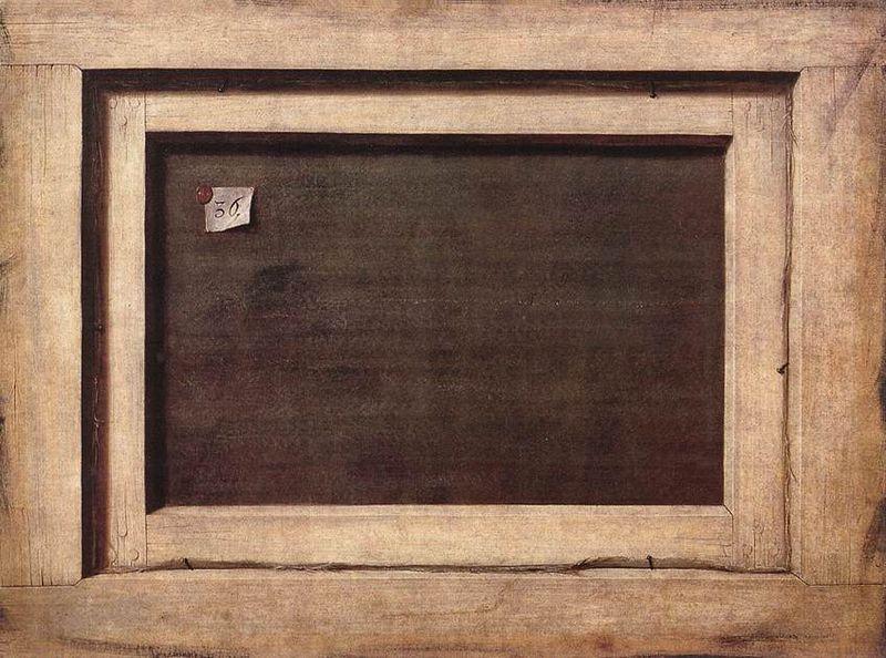 Cornelis Norbertus Gijsbrechts, Rugzijde van een schilderij, 1670, olieverf op doek, 66,4 x 87 cm, Statens Museum for Kunst, Kopenhagen.