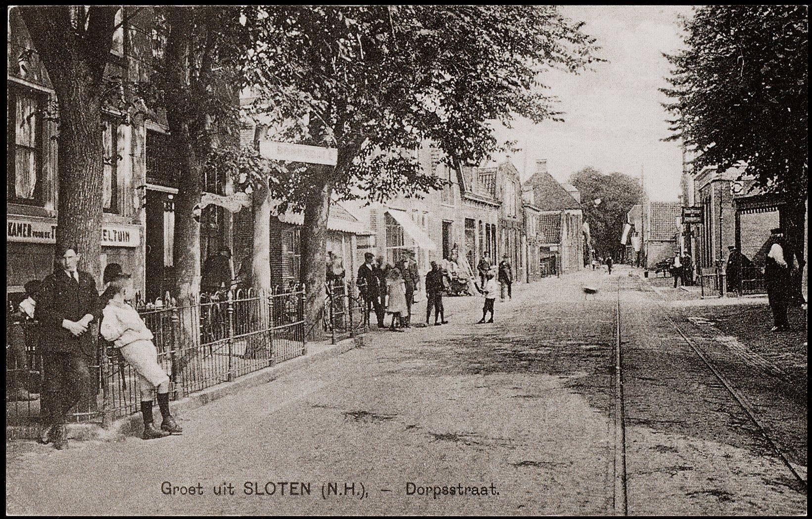 Ansicht, Dorpsstraat, Sloten, rond 1900