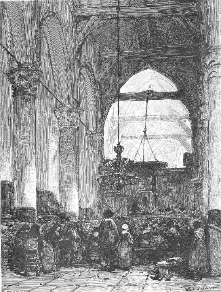 Het interieur van de Sijpekerk door J. Bosboom rond 1863. Beeld: Brand (1988).