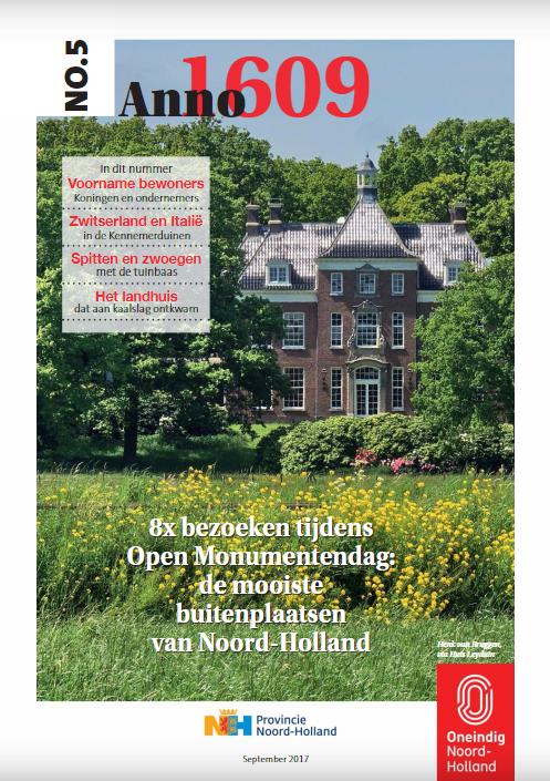 buitenplaatsen omslag, Erik Kwant, E-magazine, Provincie Noord-Holland.