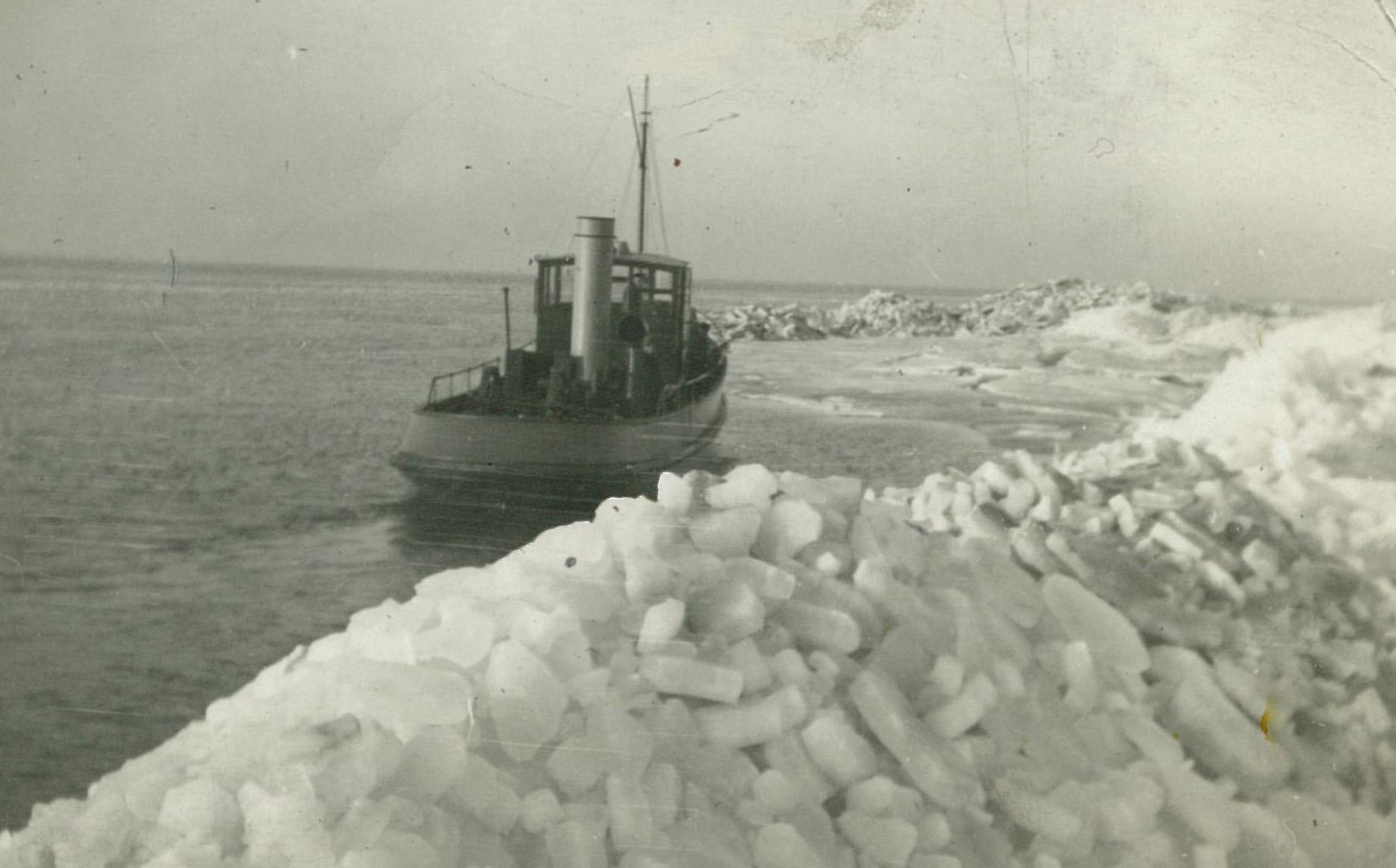 Pampus, toen er nog échte winters waren Foto: Stichting Pampus