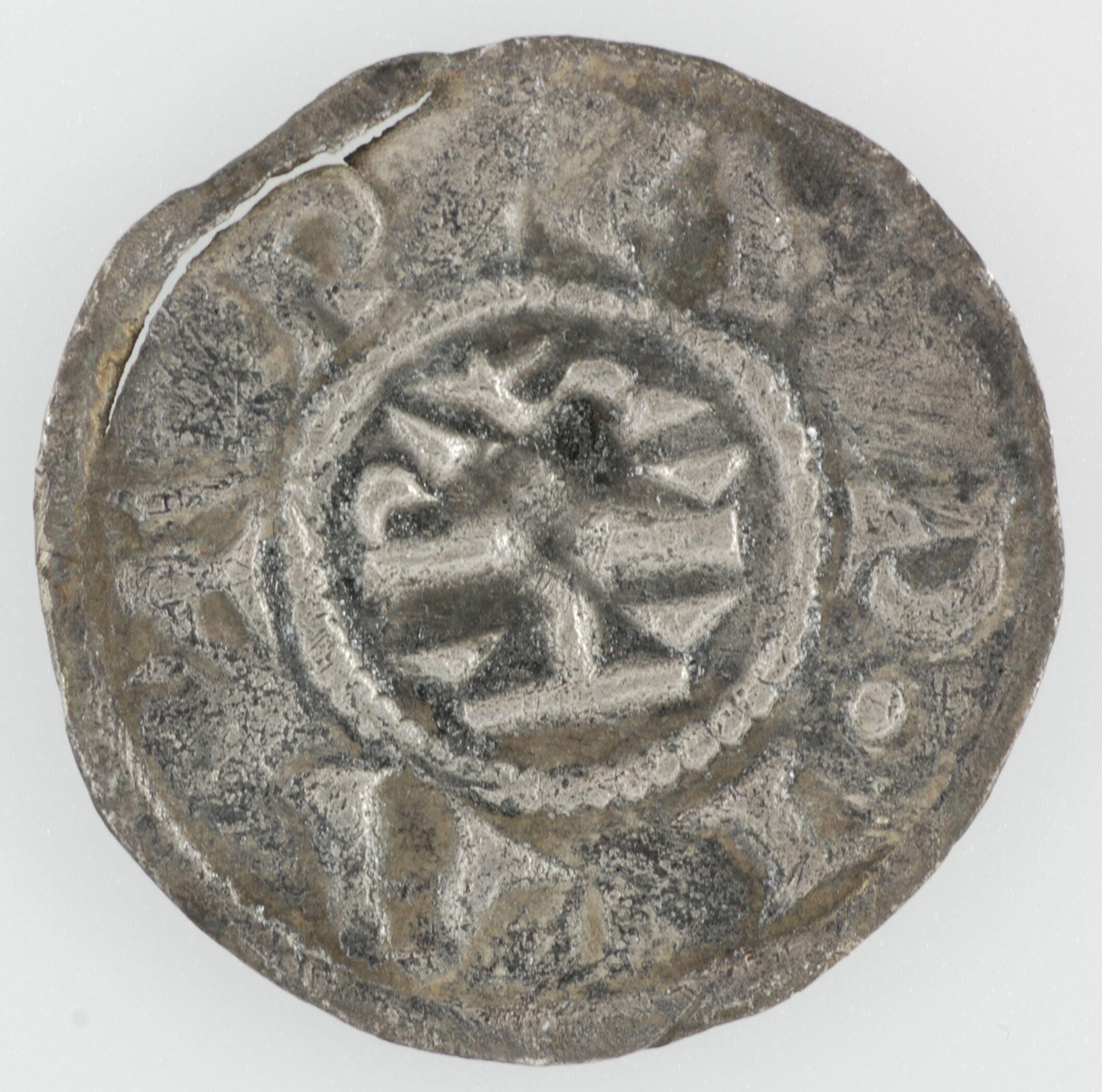 Archeologie, vondst, Denarius, Middeleeuwen, Karel de Grote