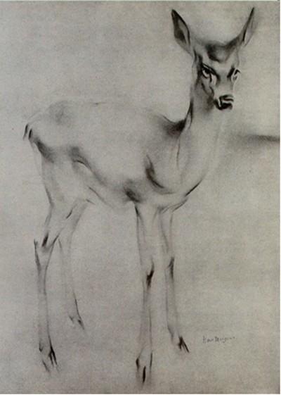 Hert, Han van Meegeren, Museums Vledder