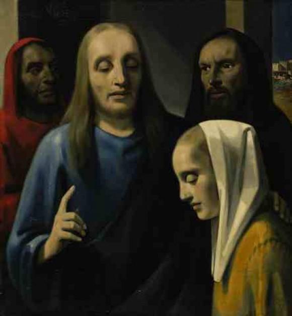 Christus en de overspelige vrouw, Han van Meegeren, Vervalsing