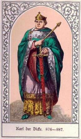 Keizer Karel de Dikke. Beeld: Wikimedia Commons.