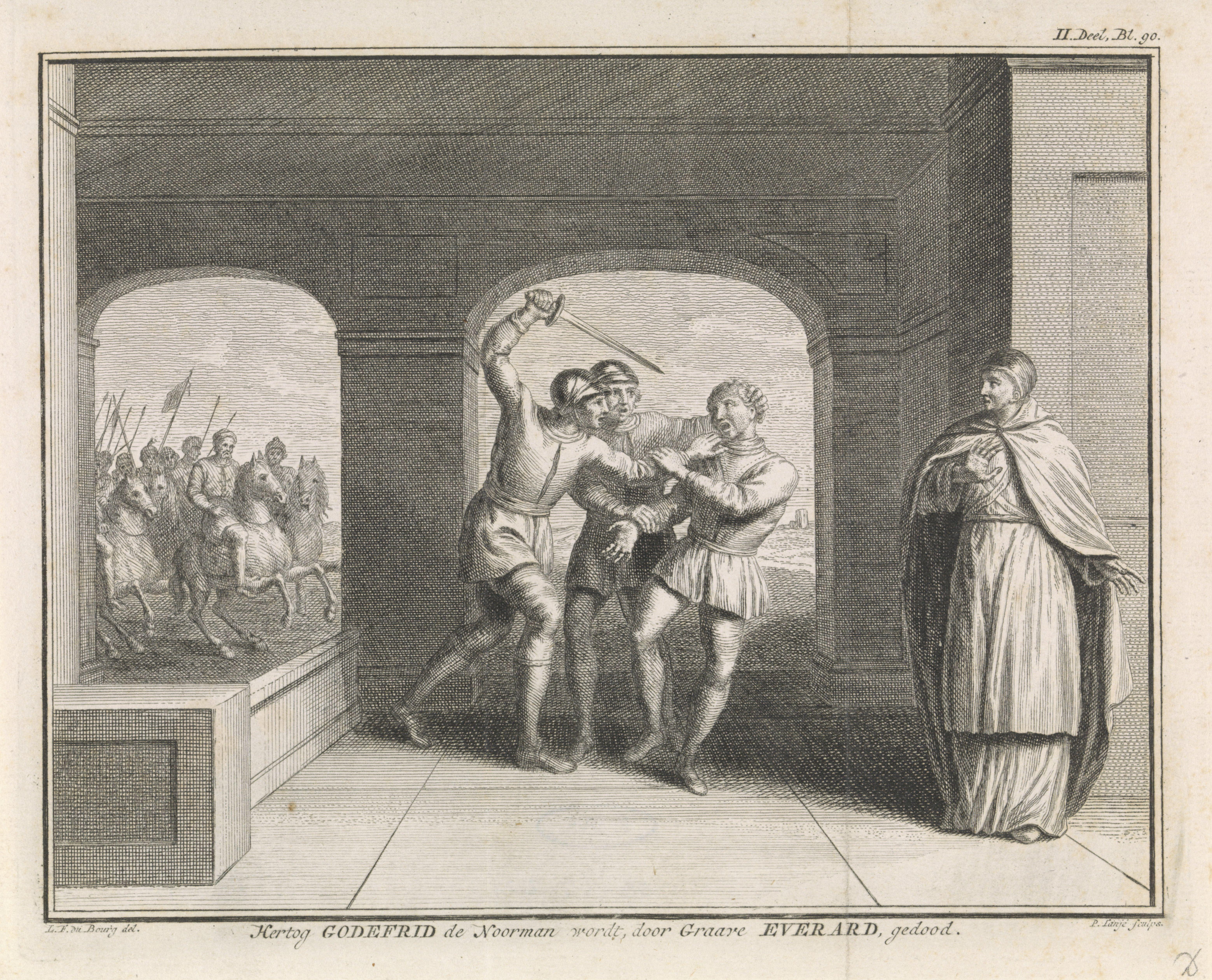 De moord op Godfried de Noorman. Beeld: Rijksstudio
