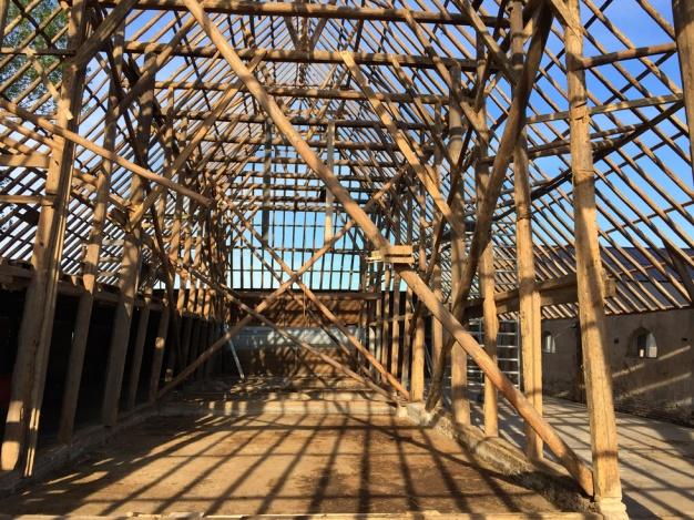 Het staketsel van de Wierschuur na de asbestsanering. Beeld: Rijksdienst voor het cultureel erfgoed