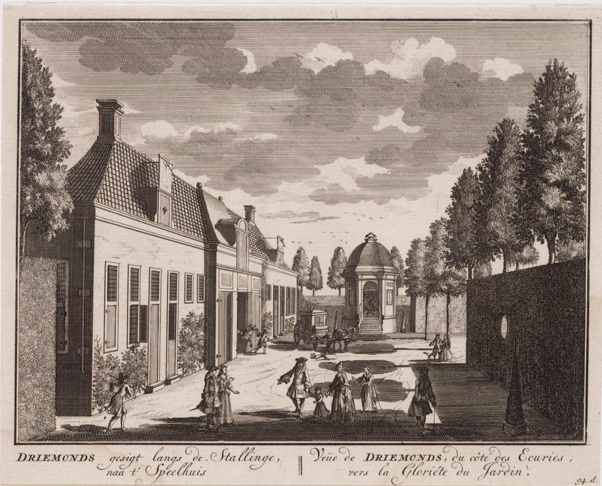 Stallen, theekoepel, speelhuis, Driemond, Driemont, Buitenplaats, Noord-Hollands Archief.