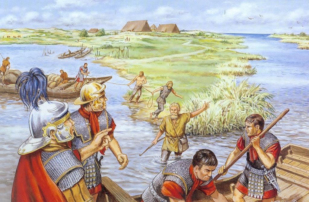 Zo troffen de Romeinen Noord-Holland aan: water, water en nog eens water