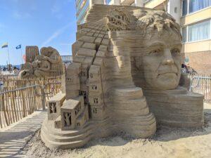 Hollands land gevangen in zand
