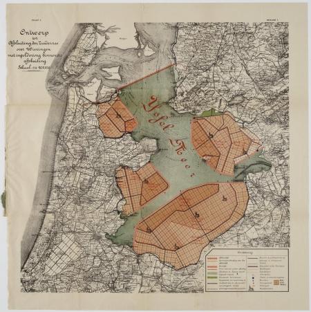 Plan drooglegging Zuiderzee.