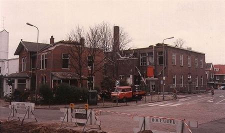 Afbraak Ambachtsschool en Maagdenhuis.